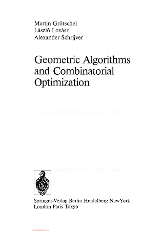 038713624X {207EACB7} Geometric Algorithms and Combinatorial Optimization [Grotschel 1988].pdf
