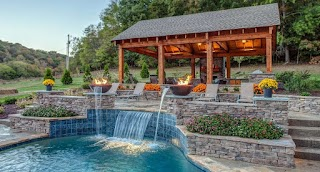 Outdoor Kitchen and Pool Custom S Side Living Spaces By Peek S