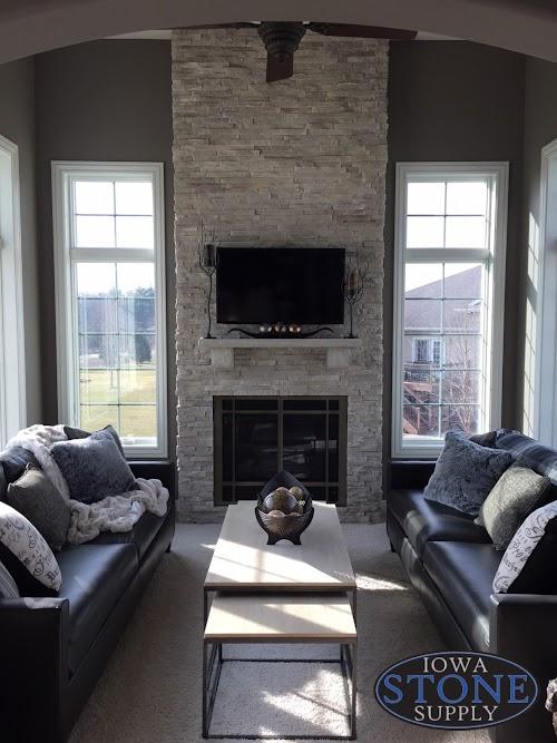 Eldorado Cotton Wood European Ledgestone Fireplace 008