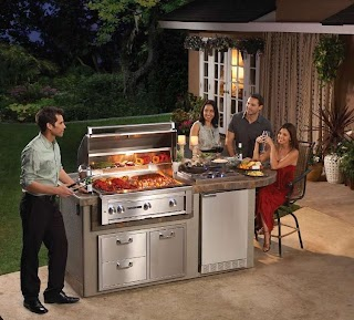 All in One Outdoor Kitchen Lynx Sedona Island Package