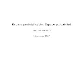 Cour Espace probabilisable, Espace probabilisé