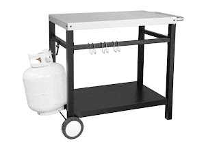 Outdoor Kitchen Work Table Royal Gourmet Bbq Prep Cart Stainless