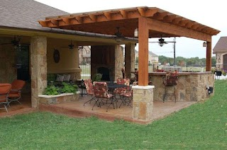 Outdoor Kitchen Pergola Ideas S Covered Weatherproof