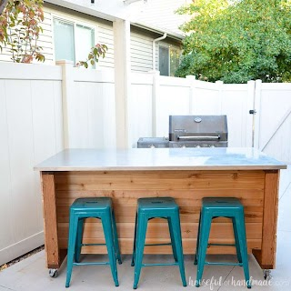 Easy Outdoor Kitchen Island Build Plans Houseful of Handmade
