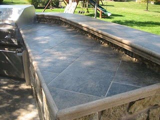 Tile Outdoor Kitchen Countertop Ideas for Outside The House