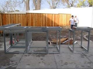 Steel Frame Outdoor Kitchen Construction Masonry Wood Kits Prefab