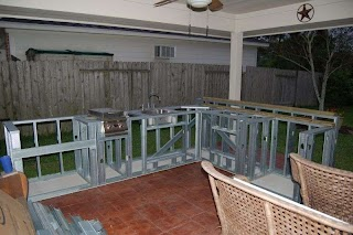 Building Outdoor Kitchen with Metal Studs S Steel Or Concrete Blocks Yard Ideas Blog
