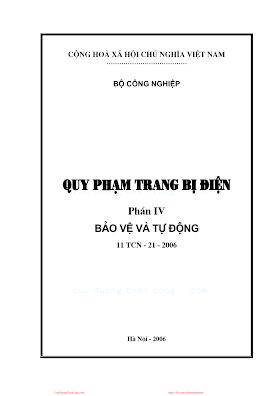 Quy Phạm Trang Bị Điện 4 - Bảo Vệ Và Tự Động.pdf