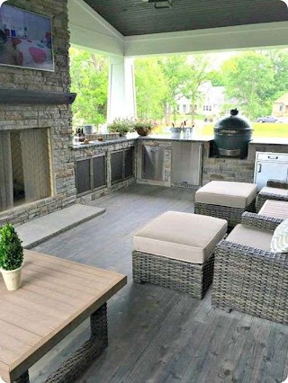 Outdoor Kitchen Attached to House Living Space The Many Many Ideas Of