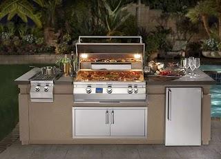 Fire Magic Outdoor Kitchen Aurora Island Package Fines Gas