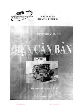 ĐHCN.Giáo trình thực hành điện căn bản - Lê Ngọc Tuân, 41 Trang.pdf