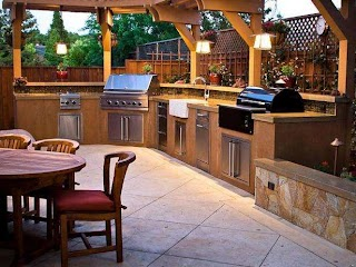 Hgtv Outdoor Kitchens Kitchen Countertops Pictures Ideas From