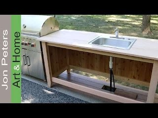 Plumbing for Outdoor Kitchen Build an Cabinet Part 1 Youtube