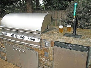 Outdoor Kitchen Kegerator Superb Mini in Landscape Traditional with Beer