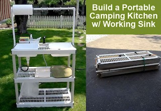 Outdoor Camping Kitchen with Sink Build a Portable DIY Working DIY for Life