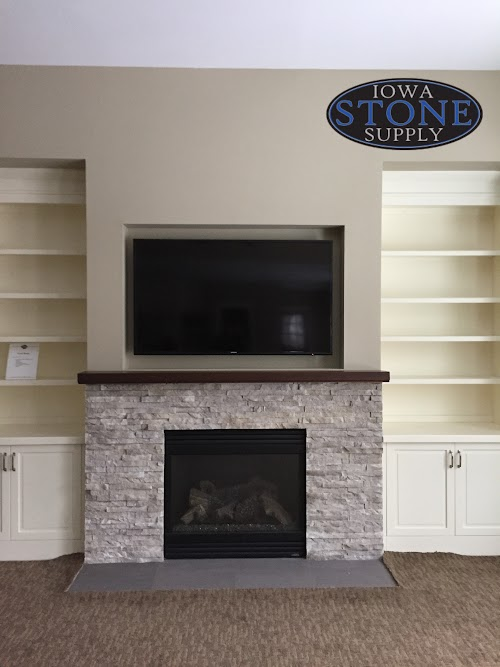 Eldorado Cottonwood European Ledgestone Fireplace 001