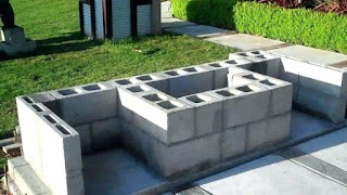 Cinder Block Outdoor Kitchen Modern Creative Images