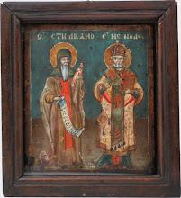 Icoana Sfantul Stelian si Sfantul Nicolae, sec al XIX-lea