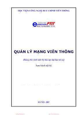 BCVT.Quản Lý Mạng Viễn Thông - Ths. Nguyễn Văn Đát & Ts. Nguyễn Tiến Ban, 95 Trang.pdf