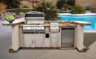 Outdoor Kitchen Deep Fryer Built in Backyard Three Basket Backyard Pro