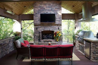 Outdoor Kitchen and Fireplace Designs 10 Gorgeous Backyard DIY Network Blog Made