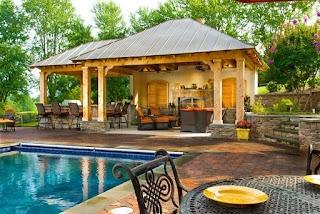 Outdoor Kitchen Pavilion Designs Backyard Bar Pavillion Home Covered