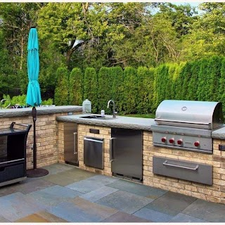 Awesome Outdoor Kitchens Top 60 Best Kitchen Ideas Chef Inspired Backyard Designs