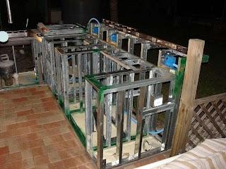 Steel Frame Outdoor Kitchen S Studs Or Concrete Blocks Yard Ideas Blog
