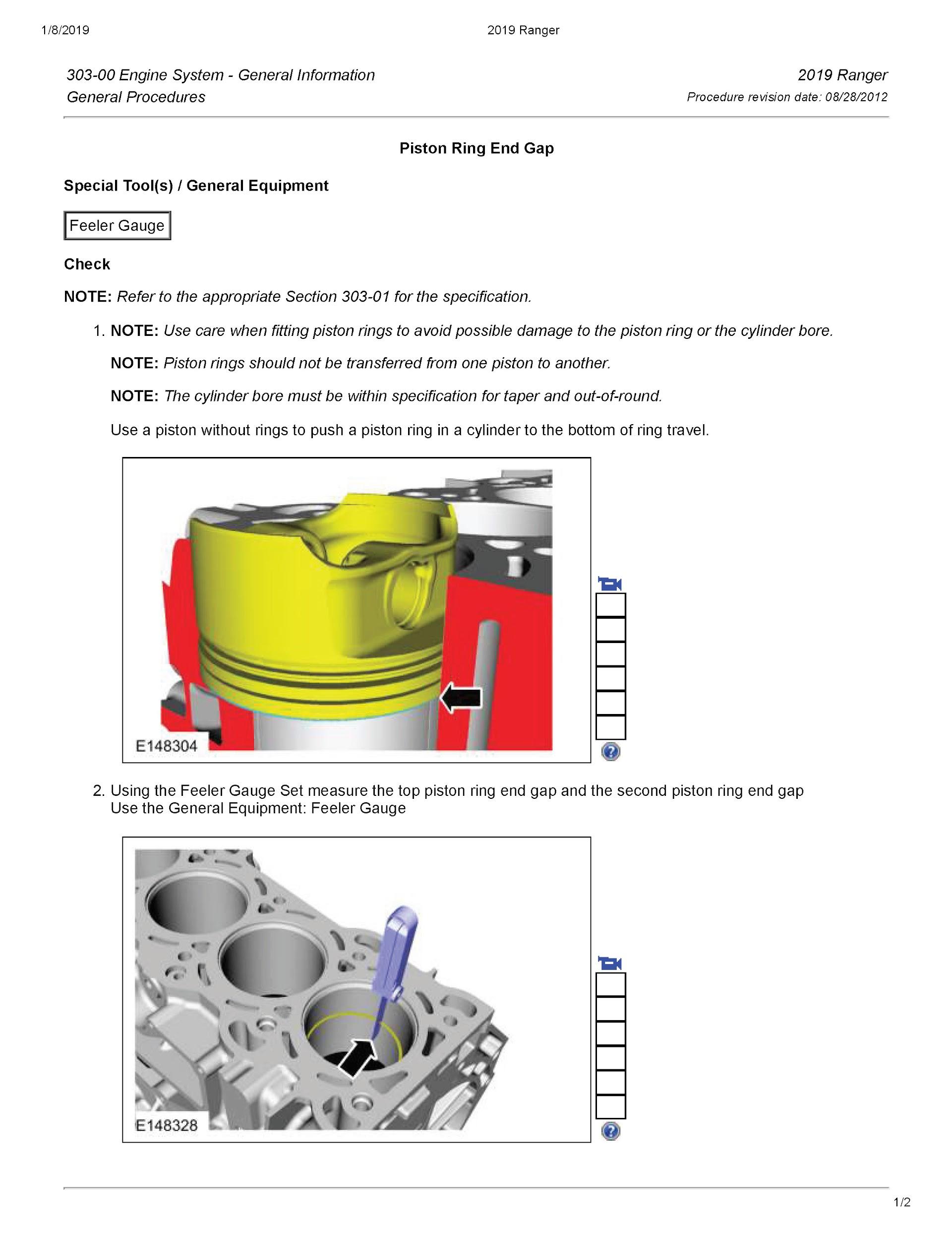 Download 2019 Ford Ranger OEM Service and Repair Manual.
