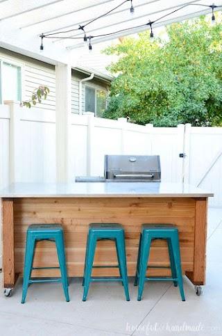 Diy Outdoor Kitchen Island Build Plans Houseful of Handmade