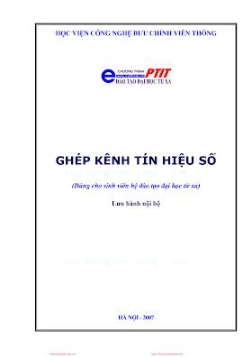 BCVT.Ghép Kênh Tín Hiệu Số - Ts. Cao Phán, 167 Trang.pdf