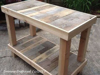 Outdoor Kitchen Work Table Pallet Project Island