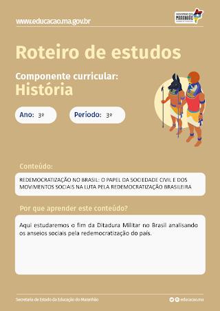 REDEMOCRATIZACAO NO BRASIL: O PAPEL DA SOCIEDADE CIVIL E DOS MOVIMENTOS SOCIAIS NA LUTA PELA REDEMO