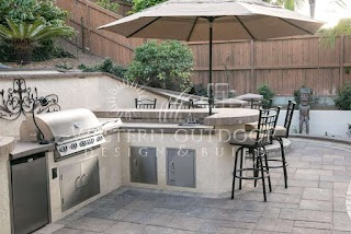 Outdoor Kitchen Island Designs Stucco Finish Bbq S S Gallery Western