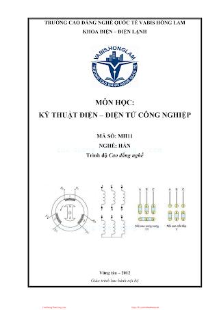 Kỹ Thuật Điện, Điện Tử Công Nghiệp - Lê Viết Thành, 156 Trang.pdf