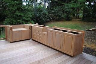 Building Outdoor Kitchen Cabinets Professional Deck Builder