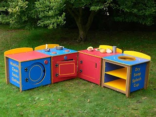 Outdoor Play Kitchen Sets Phonics Set of 4 Units