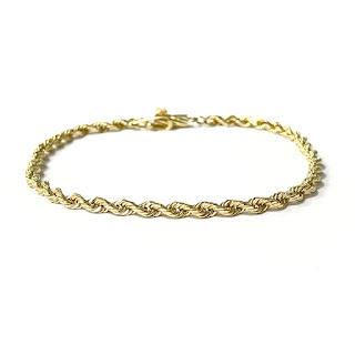 14K Gold Twist Chain Bracelet