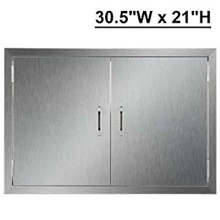 Stainless Doors for Outdoor Kitchens Amazoncom Coz Kitchen 304 Brushed Steel