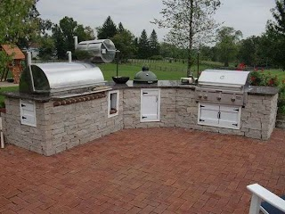 Outdoor Kitchen Smoker with Grill and Bge Patio Designs