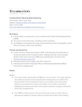 Civilian Police Review Board Hearing