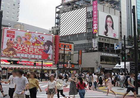 渋谷109前ボード