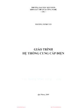 ĐHQN.Giáo Trình Hệ Thống Cung Cấp Điện - Trương Minh Tấn, 132 Trang.pdf