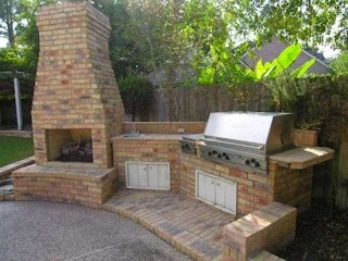 Outdoor Brick Kitchen Designs S Chimneys and Fire Pits Backyard Diy