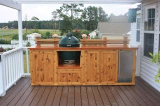 Building an Outdoor Kitchen with Wood Astounding on Deck Natural Finish En
