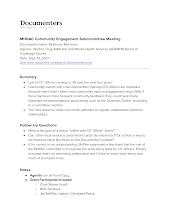 MHRAC Community Engagement Subcommittee Meeting