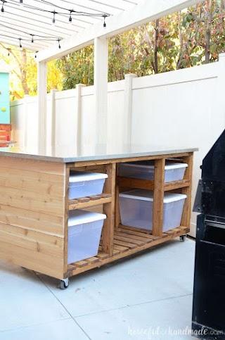Outdoor Portable Kitchen Island Build Plans Houseful of Handmade