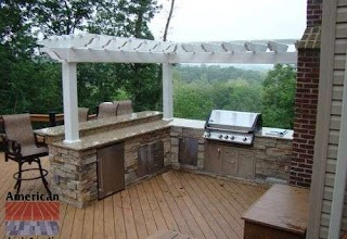 Outdoor Kitchen on a Deck S Wood S Custom