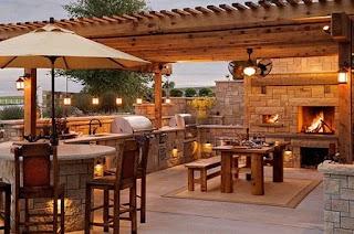 Outdoor Kitchen Orlando Glittering Elite S Fl with Travertine Tile