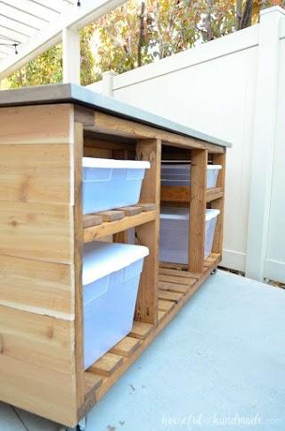 Outdoor Kitchen Building Plans Island Build Houseful of Handmade